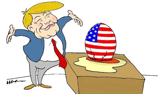 Trump squarcia l'America, prende meno voti ma stravince