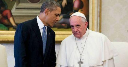 Obama con Papa